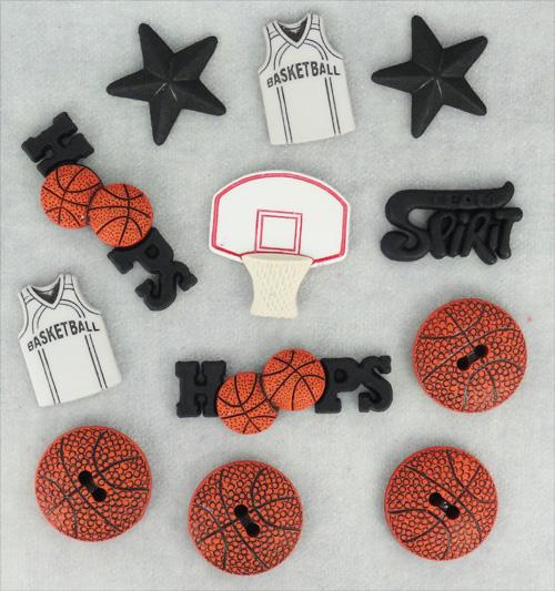 """Набор пуговиц и фигурок Dress It Up """"Баскетбол"""", 12 шт. 7702138"""