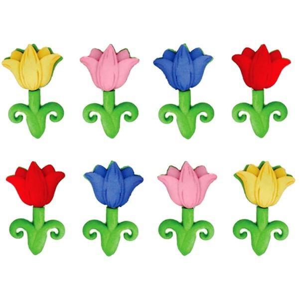 """Пуговицы декоративные Dress It Up """"Апрельские цветы"""", 8 шт. 7702281"""
