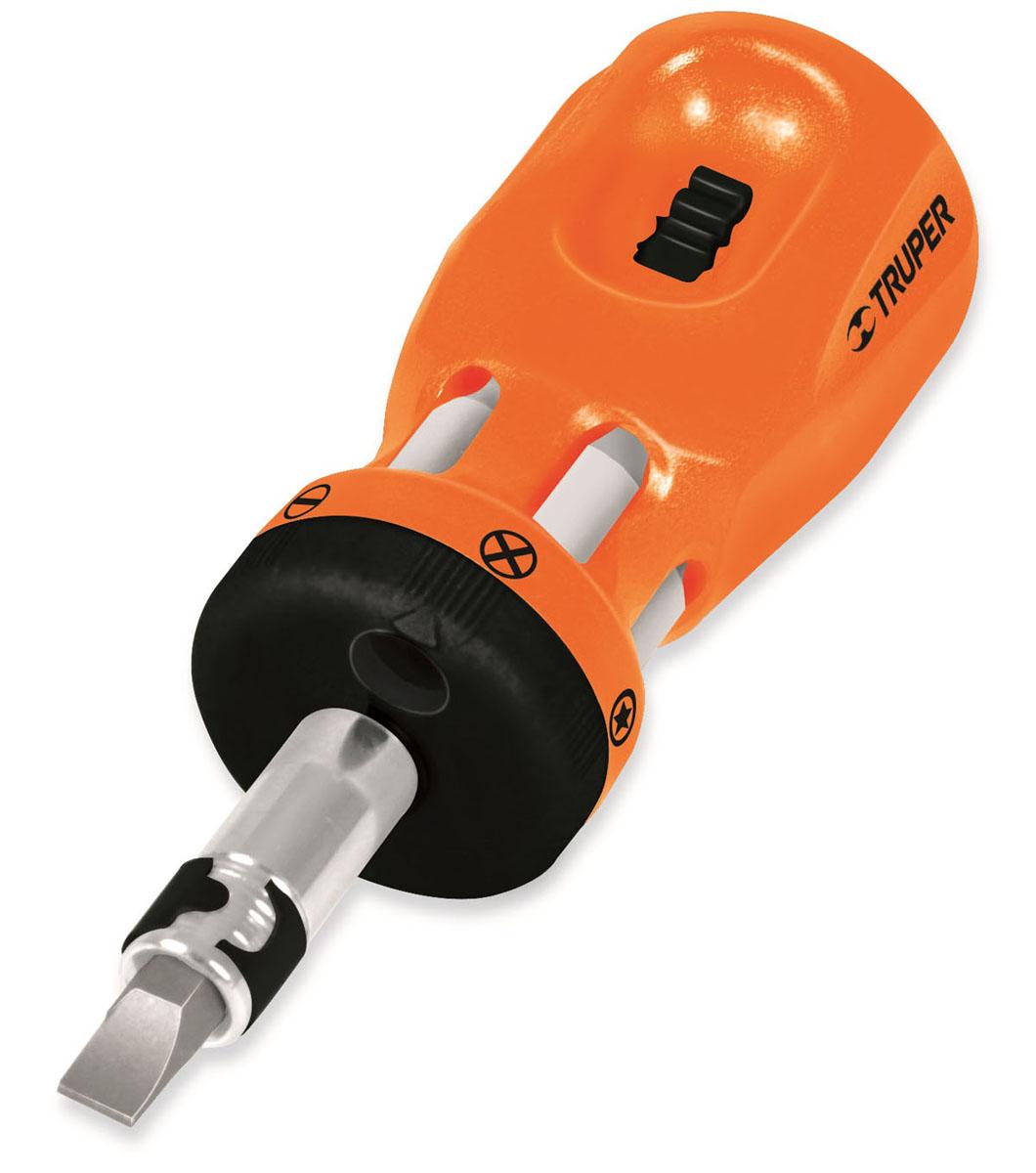 Миниотвертка с храповым механизмом Truper, 6 бит отвертка с храповым механизмом stanley fatmax hi speed 0 69 236