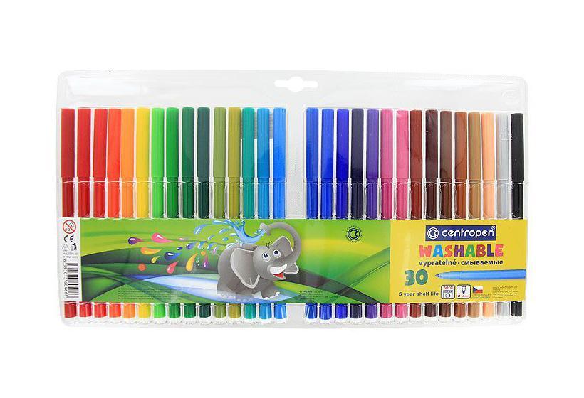 Фото - Centropen Набор фломастеров Слон 30 цветов centropen набор смываемых фломастеров colour world 18 цветов