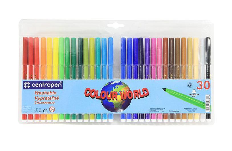 Фото - Набор смываемых фломастеров Colour World, 30 цветов centropen набор смываемых фломастеров colour world 18 цветов