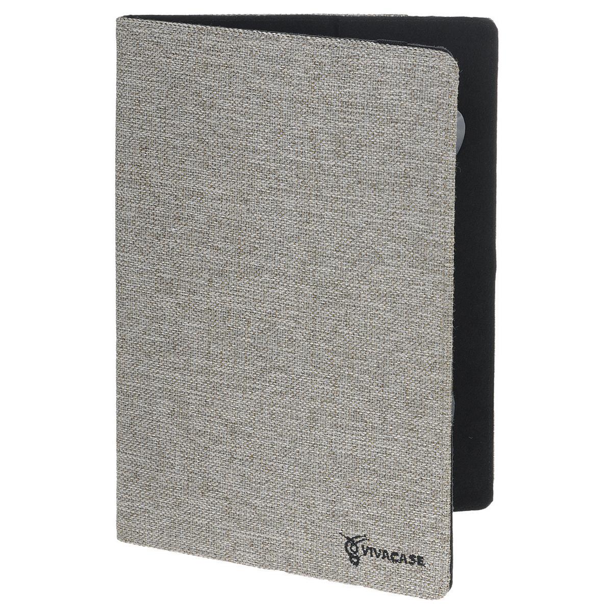 Vivacase Jacquard универсальный чехол-обложка для планшетов 10, Gray (VUC-CJ010-gr)