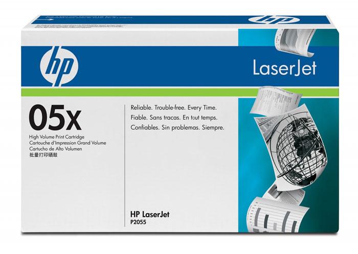 Картридж HP 05X, черный, для лазерного принтера, оригинал картридж ce505x