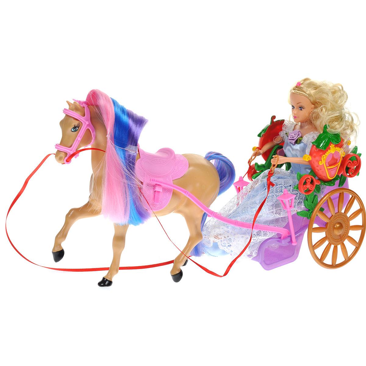 WSBD World Игровой набор с куклой Лошадь с повозкой и куклой kid o игровой набор myland лошадь