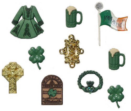 Набор пуговиц и фигурок Dress It Up Ирландия, 8 шт. 7704085 burgundy deep v plunge lace up front hollow design mini dress