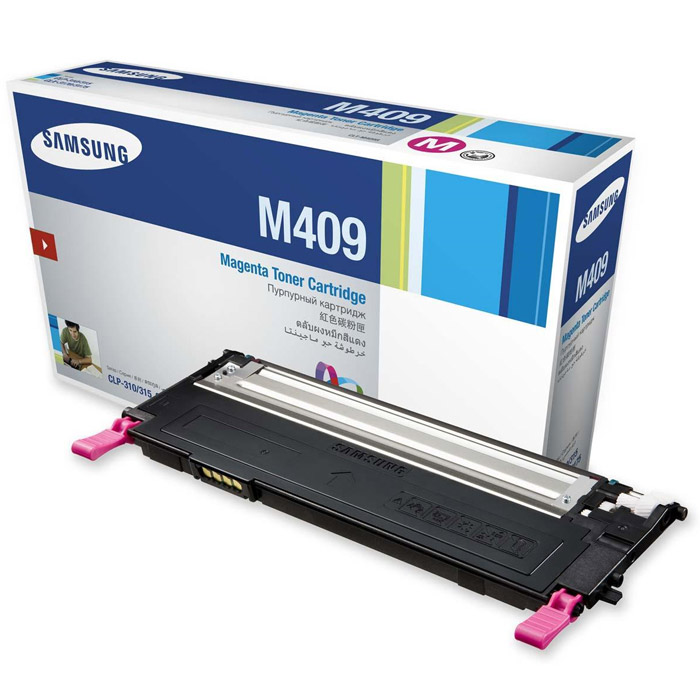 Картридж Samsung CLT-M409S, пурпурный, для лазерного принтера, оригинал тонер картридж samsung clt m409s see