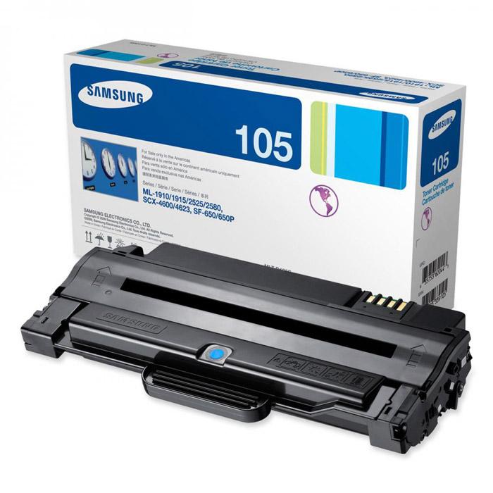 Картридж Samsung MLT-D105S, черный, для лазерного принтера, оригинал