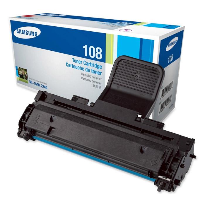 Картридж Samsung MLT-D108S, черный, для лазерного принтера, оригинал