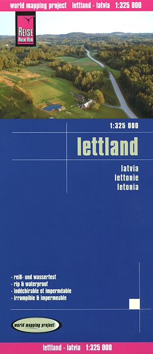 Lettland: Road Map austria road map