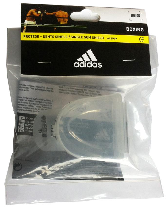 Капа одночелюстная Adidas Single Mouth Guard, цвет: прозрачный. Размер Junior капа боксерская одночелюстная подростковая larsen tc 01262