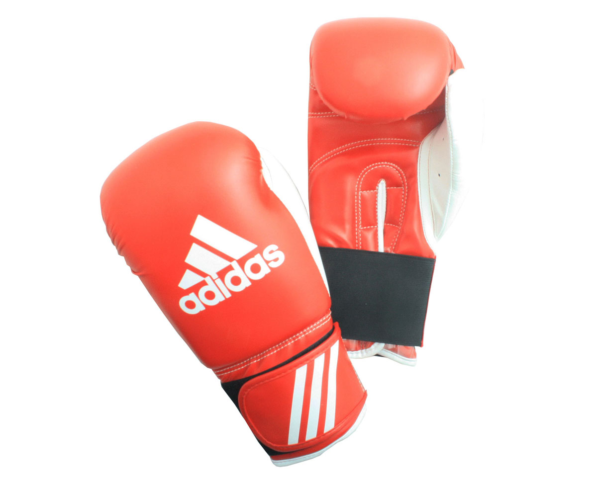 Перчатки боксерские Adidas Response, цвет: красно-белый. adiBT01. Вес 10 унций перчатки боксерские adidas response сине белые 10 унций adibt01
