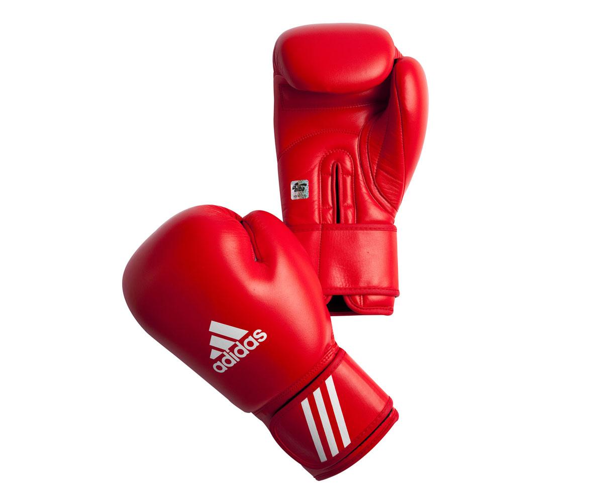 Перчатки боксерские Adidas Aiba, цвет: красный. AIBAG1. Вес 12 унций перчатки боксерские adidas response сине белые 10 унций adibt01