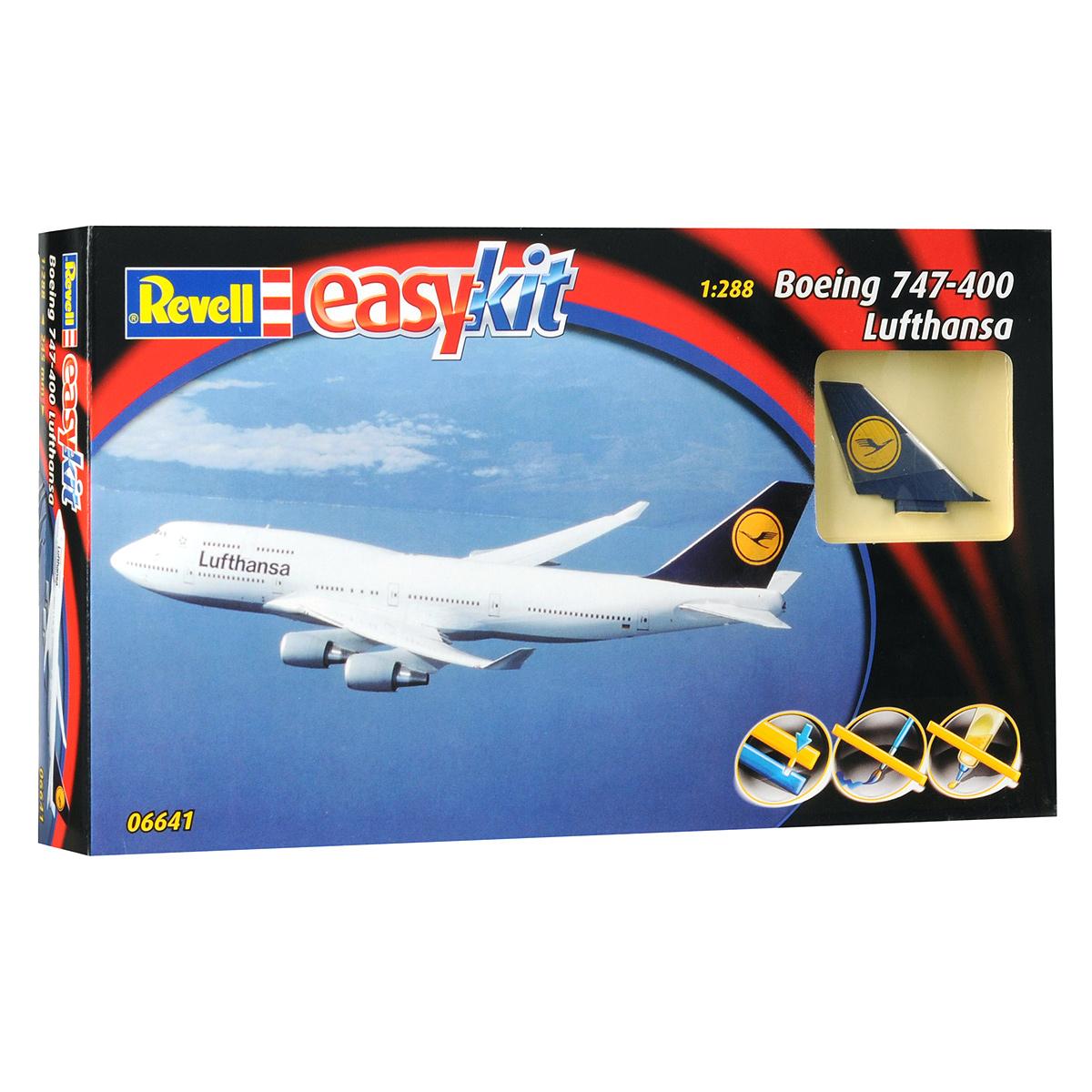 Сборная модель Revell Самолет Boeing 747-400 Lufthansa сборная модель пассажирского самолета revell boeing 747 8