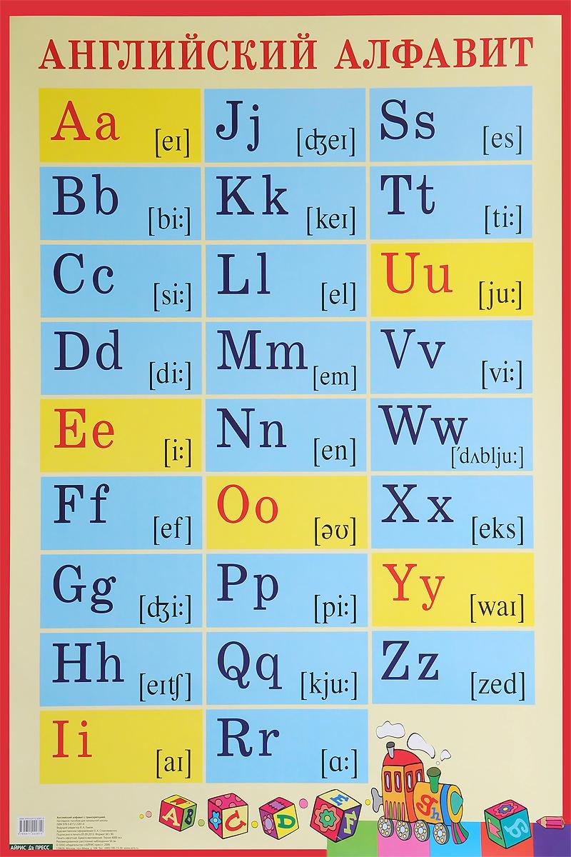 Английский алфавит. Плакат алфавит печатные и рукописные буквы наглядное пособие для начальной школы