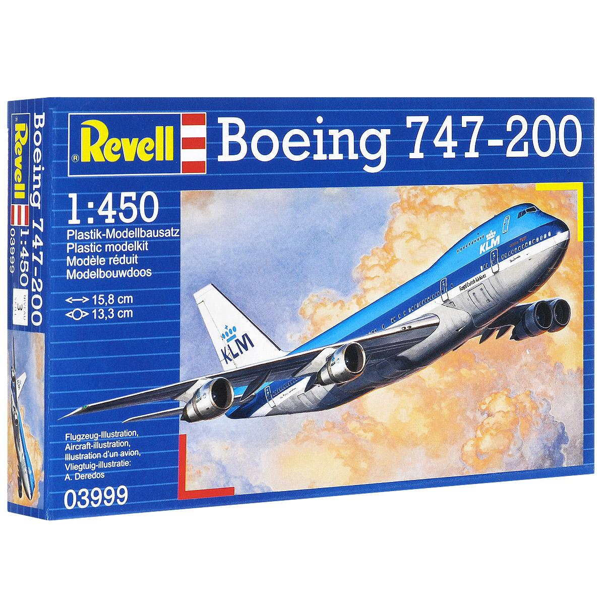 Сборная модель Revell Самолет Boeing 747-200 сборная модель пассажирского самолета revell boeing 747 8