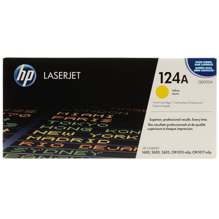 Картридж HP Q6002A, желтый, для лазерного принтера, оригинал
