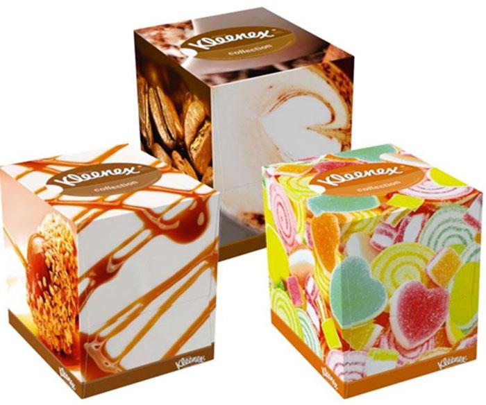 Kleenex Салфетки в коробке Collection, универсальные, 100 шт, в ассортименте kleenex салфетки в коробке фэмили 150 шт