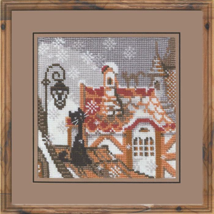 Набор для вышивания крестом Riolis Город и кошки, 13 х 13 см набор для вышивания крестом riolis березы 26 х 38 см