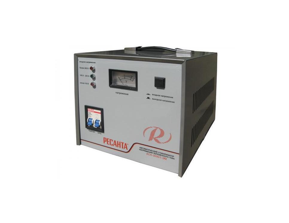 Стабилизатор напряжения РЕСАНТА АСН-3000/1-ЭМ стабилизатор ресанта асн 3000 3 эм