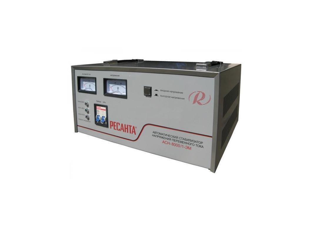 Стабилизатор напряжения РЕСАНТА АСН-8000/1-ЭМ стабилизатор напряжения ресанта асн 20000 1 эм
