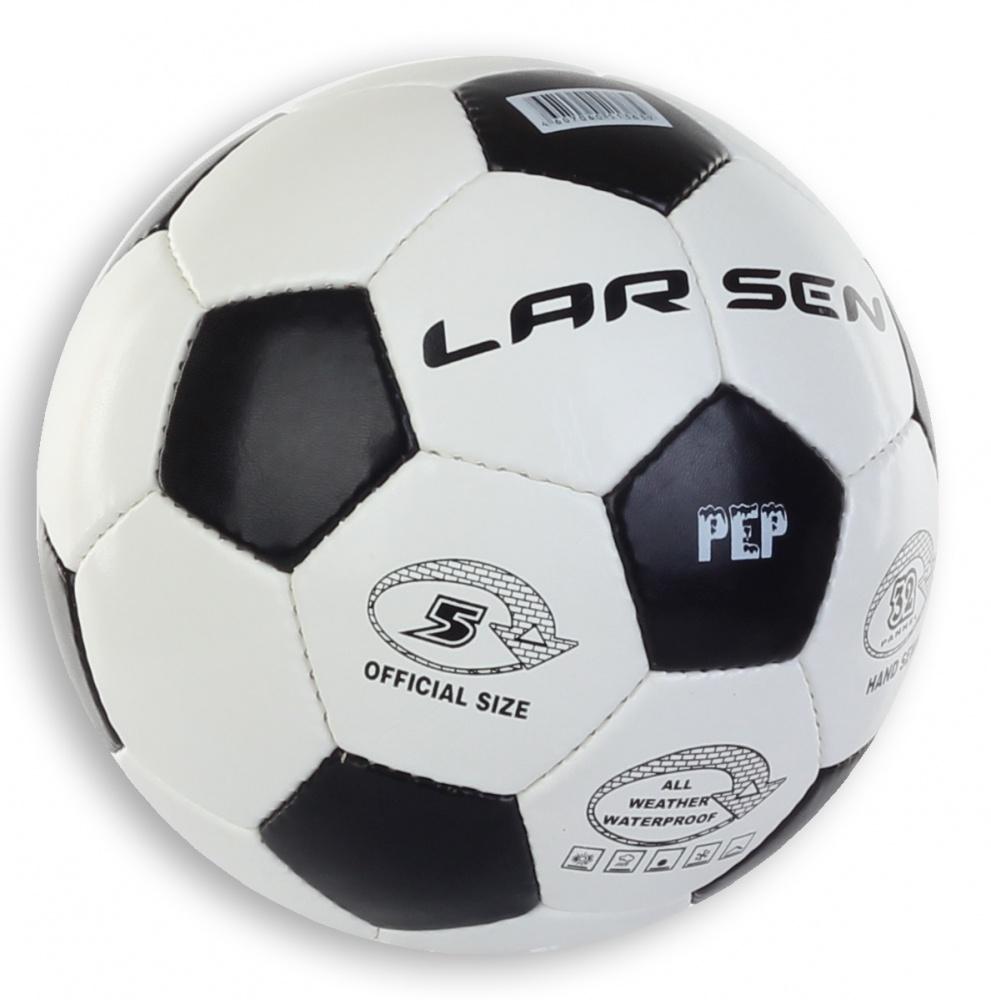 Мяч футбольный Larsen Pep, цвет: белый, черный. Размер 5 мяч футбольный larsen mini b 4 b 5