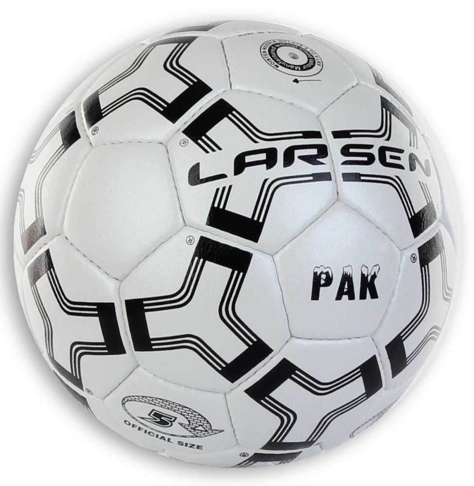 Мяч футбольный Larsen Pak, цвет: белый, черный. Размер 5 мяч футбольный larsen mini b 4 b 5