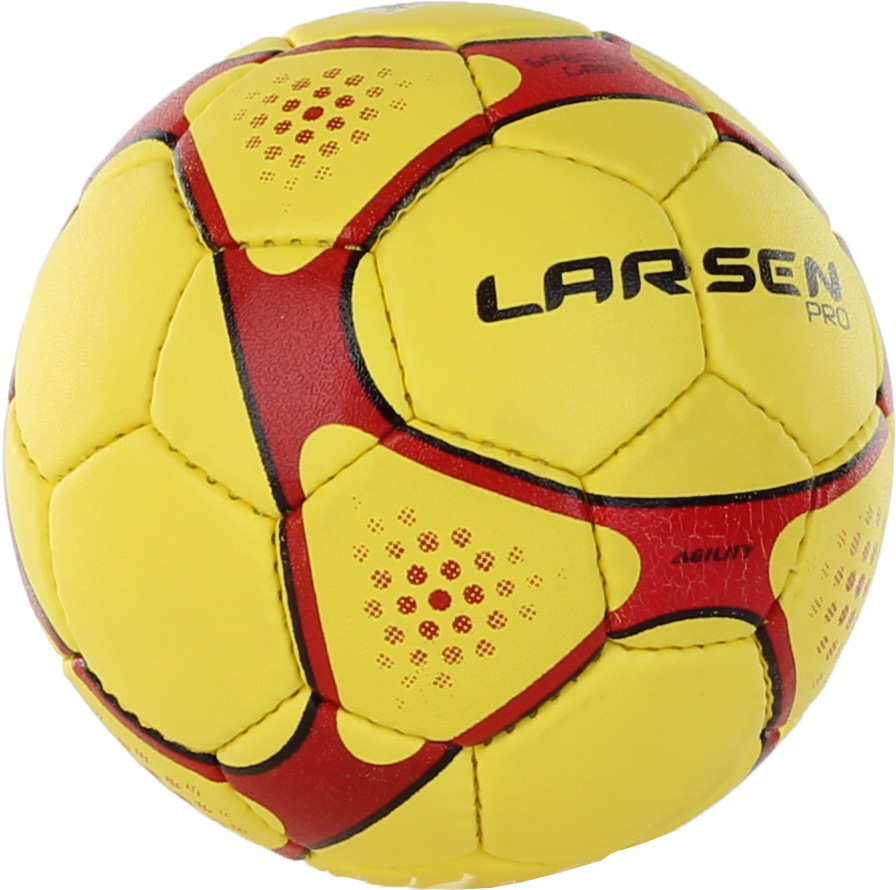 цена на Мяч гандбольный Larsen Pro L-Men, цвет: красный, желтый, черный. Размер 2