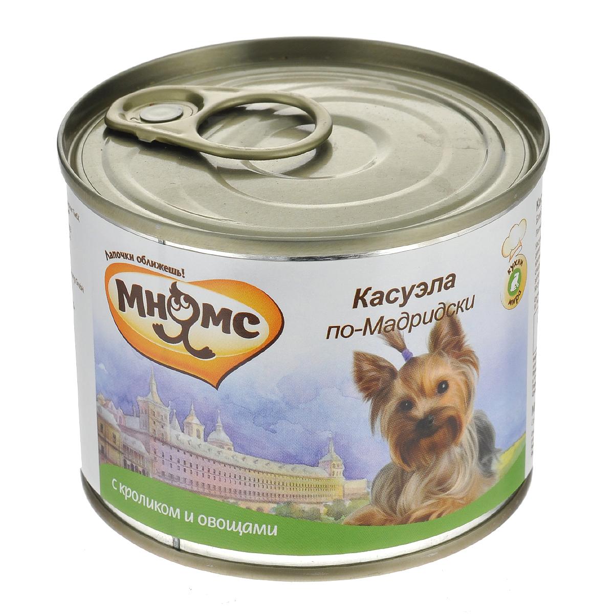 """Консервы для собак Мнямс """"Касуэла по-Мадридски"""", с кроликом и овощами, 200 г"""