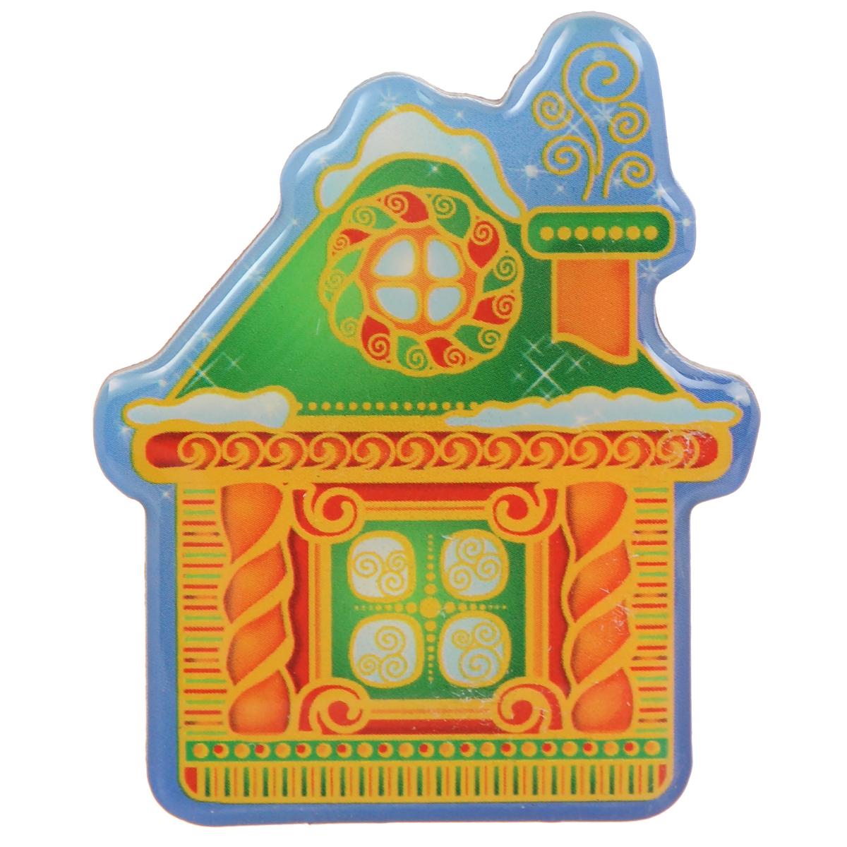 Декоративный магнит Домик, 5,5 см х 6,5 см. 31540 магнит декоративный magic time сказочный город 5 x 6 см 42280