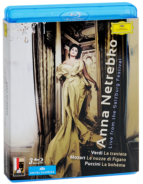 Anna Netrebko. Live From The Salzburg Festival (3 Blu-Ray) цена