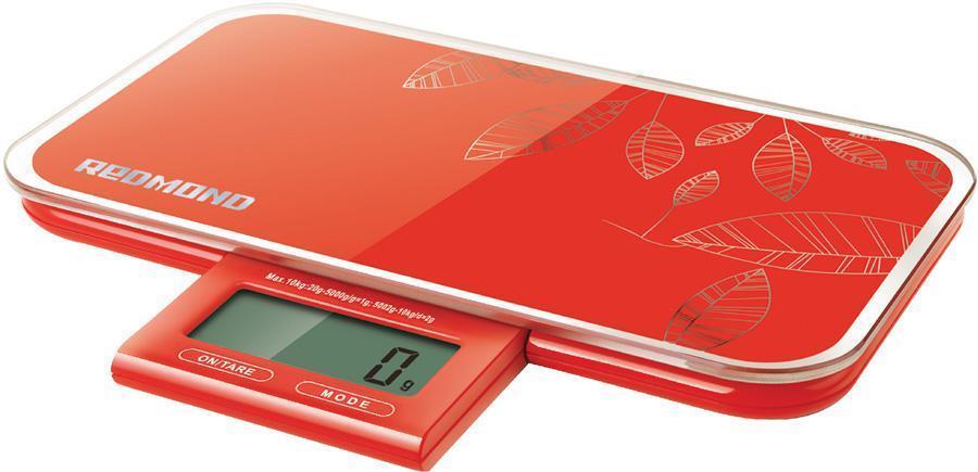 Кухонные весы Redmond RS-721, Red redmond rs 721 black