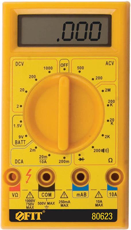 Мультиметр цифровой FIT, 1000 В. 80623