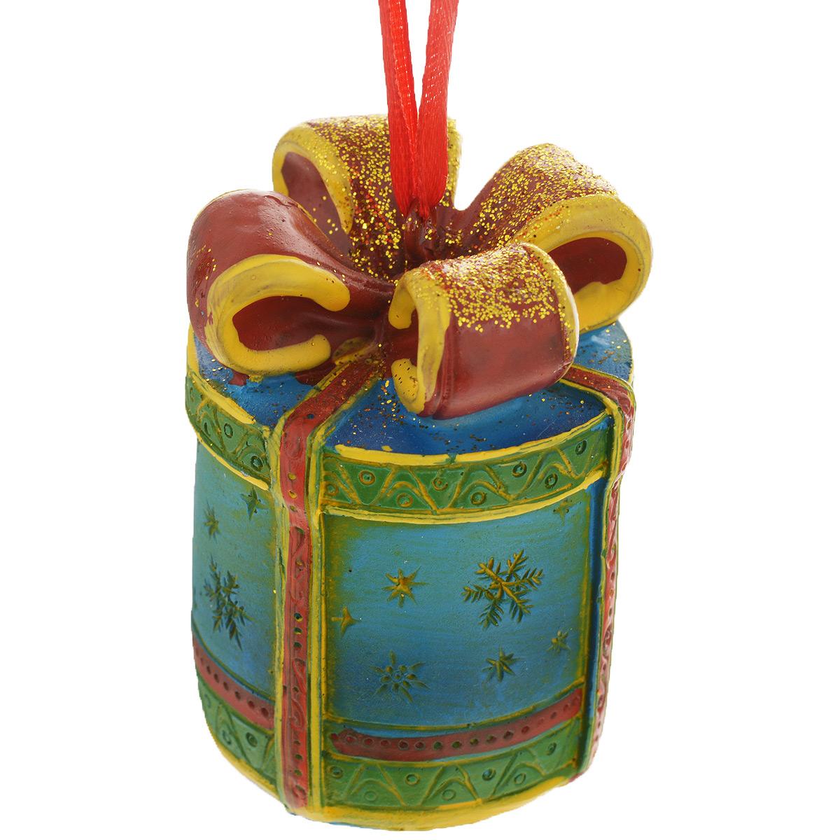 Новогоднее подвесное украшение Феникс-Презент Подарок. 34597 феникс презент украшение новогоднее подвесное сова пират из полирезины