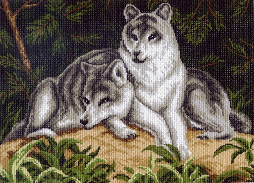 Волк картинка для бисера