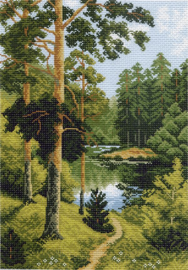 Картинки вышивки природа