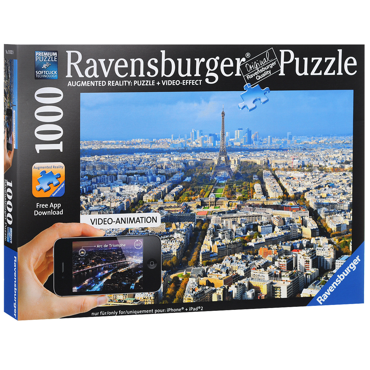 Ravensburger Крыши Парижа. Пазл с видео-анимацией, 1000 элементов недорого