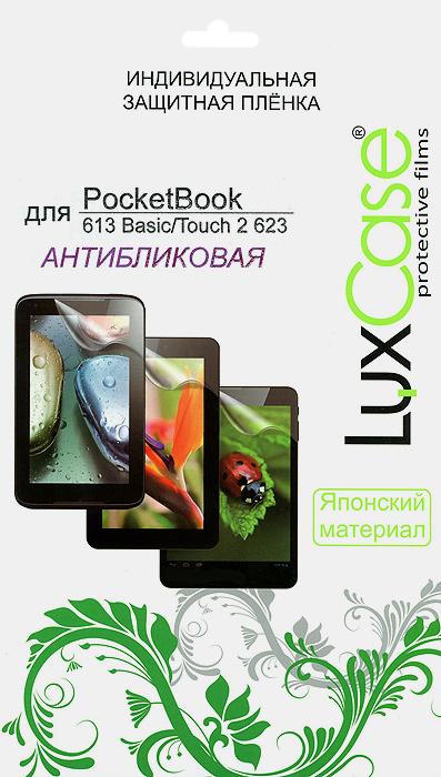 Luxcase защитная пленка для PocketBook 613 Basic/623 Touch 2, антибликовая аксессуар защитная пленка для vertex disco luxcase антибликовая 55187
