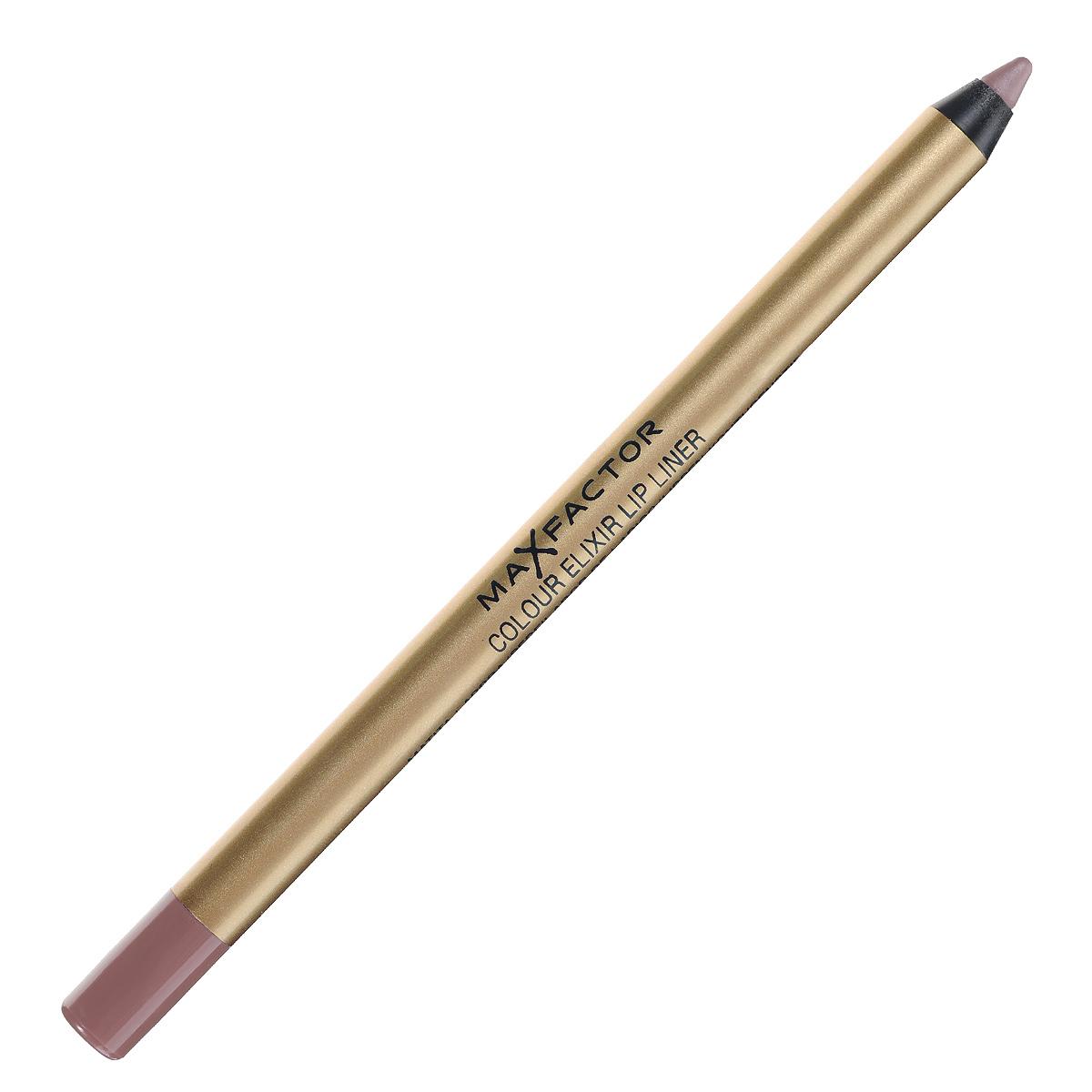 "Max Factor Карандаш для губ ""Colour Elixir Lip Liner"", тон №02 pink petal, цвет: светло-розовый"
