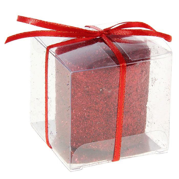 Свеча декоративная Sima-land Столбик, цвет: красный. 296062 карнавальная шляпа sima land снежинка анимированная 333854