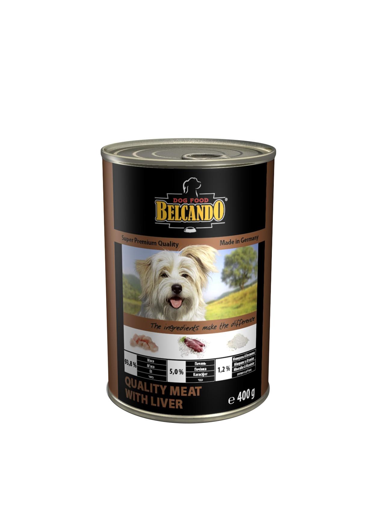 Консервы для собак Belcando, с мясом и печенью, 400 г консервы для собак belcando с отборным мясом 800 г