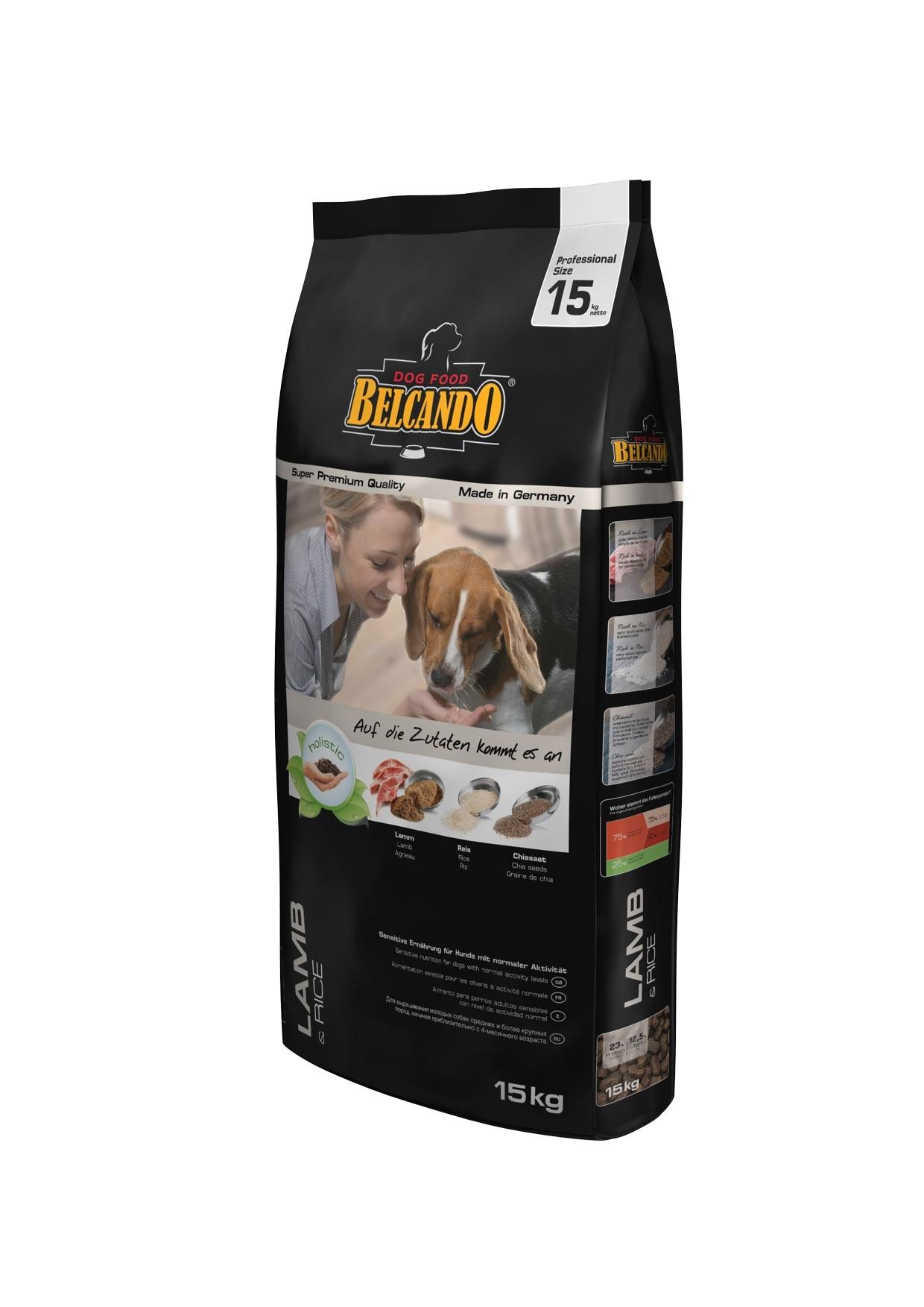 Корм сухой Belcando Lamb Rice, гипоаллергенный, для взрослых собак с нормальной активностью, на основе ягненка, 15 кг26087Особая формула корма Belcando Lamb Rice ориентирована на собак, которые страдают пищевыми расстройствами, а так же индивидуальной непереносимостью таких популярных мясных ингредиентов, как говядина и мясо цыпленка. Ягненок и рис - лучшая основа для гипоаллергенного корма, которая позволяет избежать непереносимости у чувствительных животных, но при этом получить все необходимые питательные вещества, витамины и микроэлементы. Изготовлен без применения пшеницы, сои, кукурузы и молочных продуктов. Состав: рис (40 %); сухое мясо ягненка (15 %); сухое мясо птицы пониженной зольности (12,5 %); овес; жир домашней птицы; рафинированное растительное масло; вытяжка из виноградной косточки; пивные дрожжи; семена чии (1,5 %); овсяные хлопья; льняное семя; гидролизат печени птицы; поваренная соль; калий хлористый; травы (всего 0,2 %: листья крапивы, корень горечавки, золототысячник, ромашка, фенхель, тмин, омела, тысячелестник, листья ежевики); экстракт юкки. Питательные добавки: Витамин А: 13,000 МЕ/кг, Витамин Е: 130 мг/кг, Витамин D3: 1,300 МЕ/кг, Кальций: 1,4%, Фосфор: 0,9%. Содержание питательных веществ: Протеин: 23%, Жир: 12,5%, Клетчатка 3,2%, Зола: 6,5%, Влажность: 10%. Товар сертифицирован.