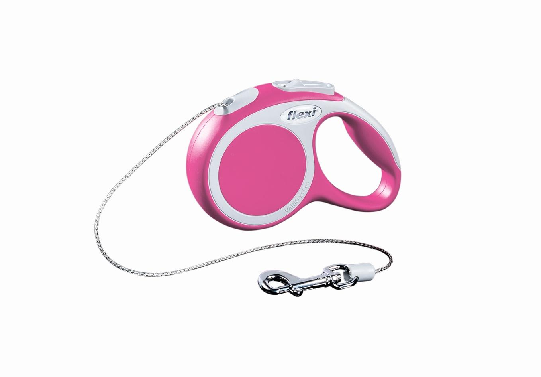 """Поводок-рулетка Flexi """"Vario Basic ХS"""" для собак до 8 кг, цвет: розовый, 3 м"""