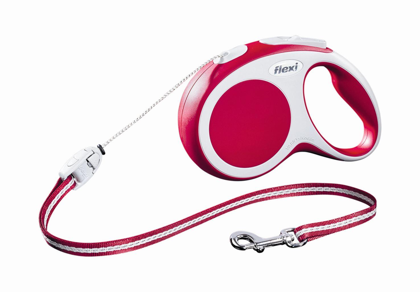 """Поводок-рулетка Flexi """"Vario Long S"""" для собак до 12 кг, цвет: красный, 8 м"""