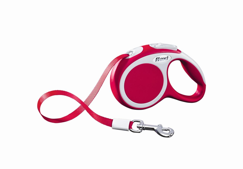 """Поводок-рулетка Flexi """"Vario Compact ХS"""" для собак до 12 кг, цвет: красный, 3 м"""