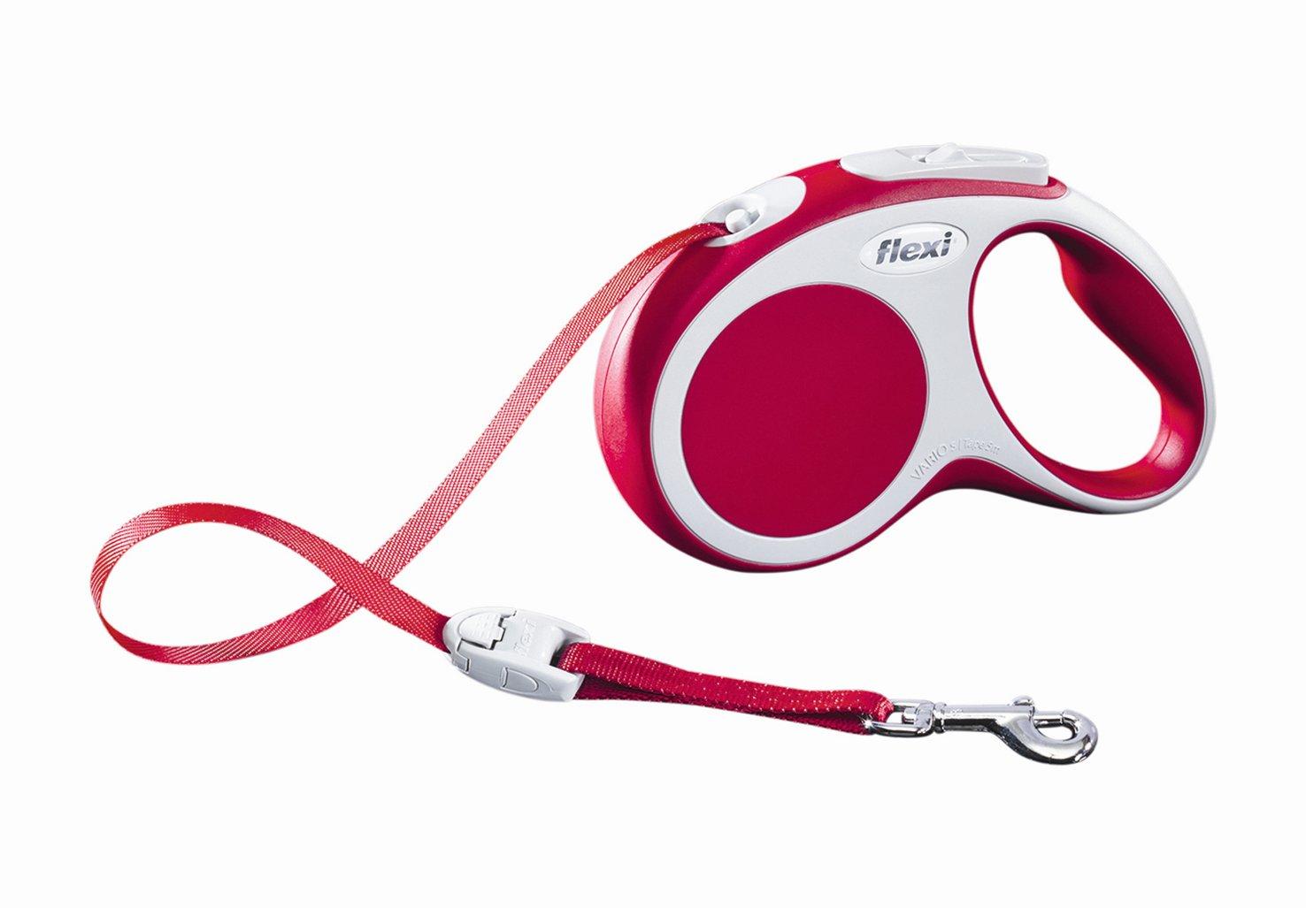 """Поводок-рулетка Flexi """"Vario Compact S"""" для собак до 15 кг, цвет: красный, 5 м"""