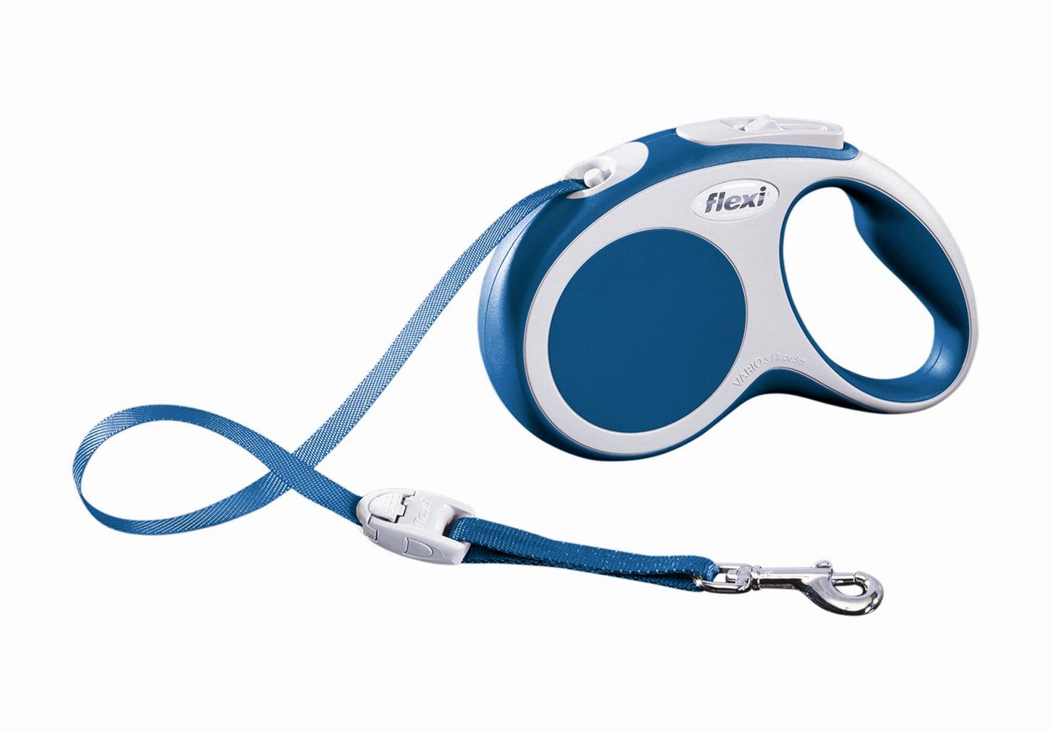 """Поводок-рулетка Flexi """"Vario Compact S"""" для собак до 15 кг, цвет: синий, 5 м"""