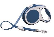 Поводок-рулетка Flexi Vario Compact L для собак до 60 кг, цвет: синий, 5 м поводок рулетка flexi color м для собак до 20 кг цвет черный голубой 5 м