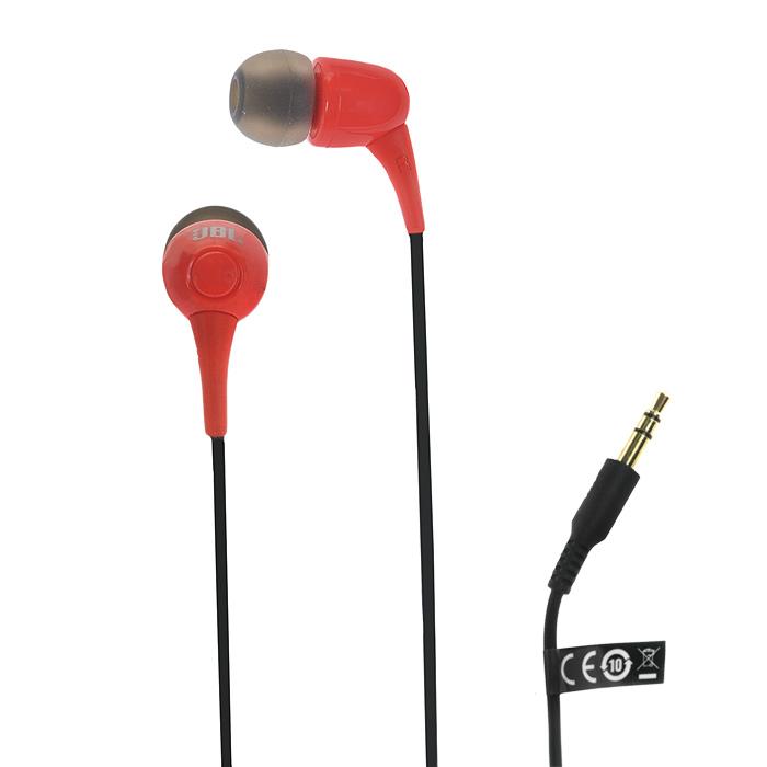 JBL T100, Red наушники-вкладыши сотовый телефон senseit t100 black