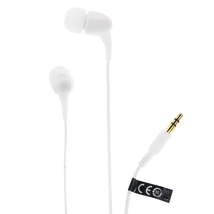JBL T100, White наушники-вкладыши сотовый телефон senseit t100 black
