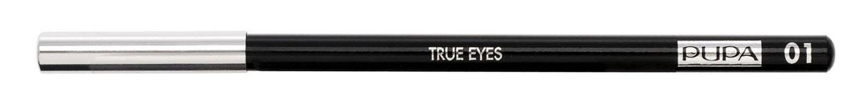PUPA Карандаш для век TRUE EYES, тон 01 черный , 1.4 г карандаш для век made to last definition eyes pupa глаза